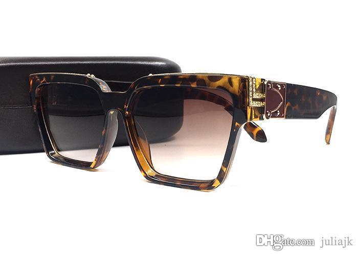 Винтажные золотые горячие квадратные мужчины женщины 96006 дизайнер Sahdes Солнцезащитные очки Солнцезащитные очки Shiny Millionaire Logo Brand Продать позолоченное верхняя часть NMJN LU UEHOH