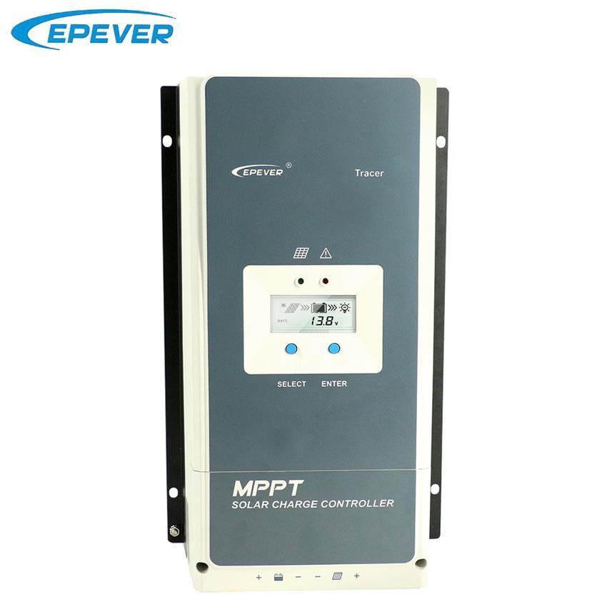 Epever 50A 60A 80A 100A MPPT Solar Charge Controller 12V 24V 36V 48V Auto Backlight LCD Solar Regulator Support WIFI MT50 Remote