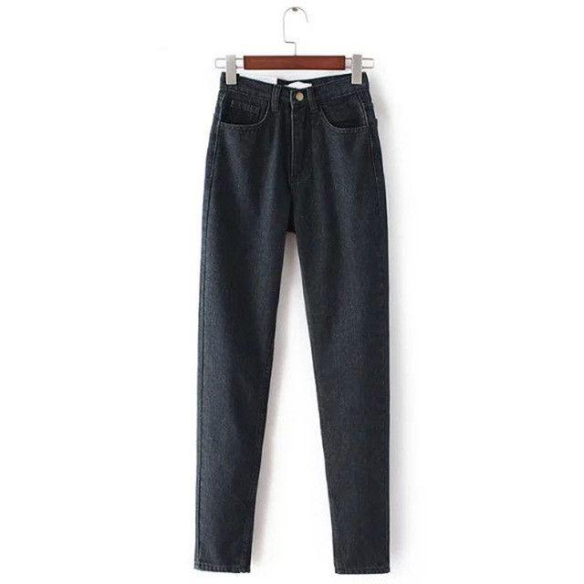Moda Primavera Novas Calças de Brim Das Mulheres Cintura Alta Cowboy Harem Pants Cowboy Do Vintage Calças de Corpo Inteiro Solto Cowboy Denim Pants Atacado