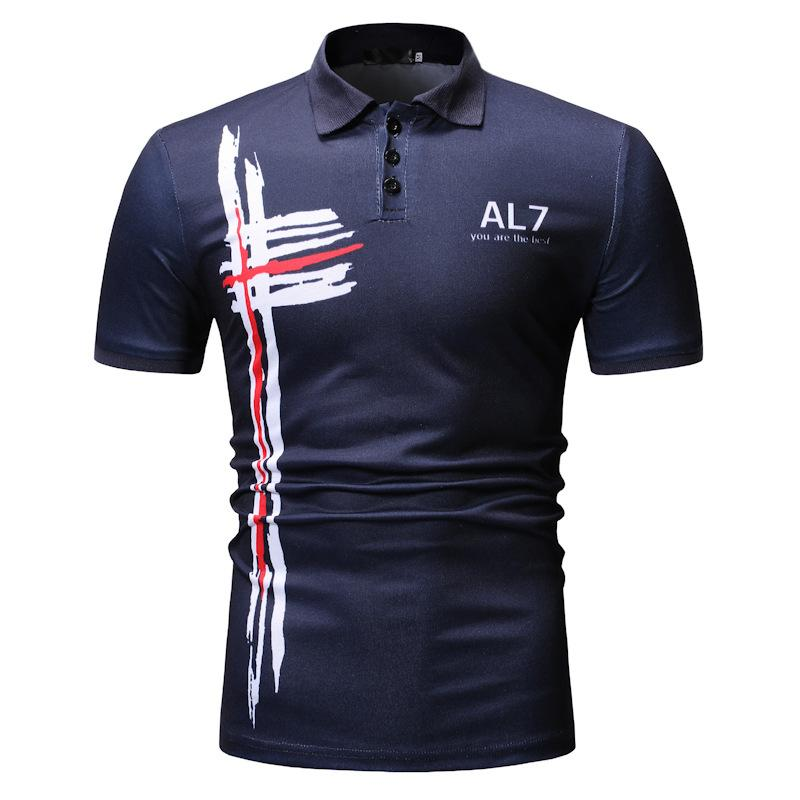 New fashion casual european code loose color print Short sleeve T-Shirt