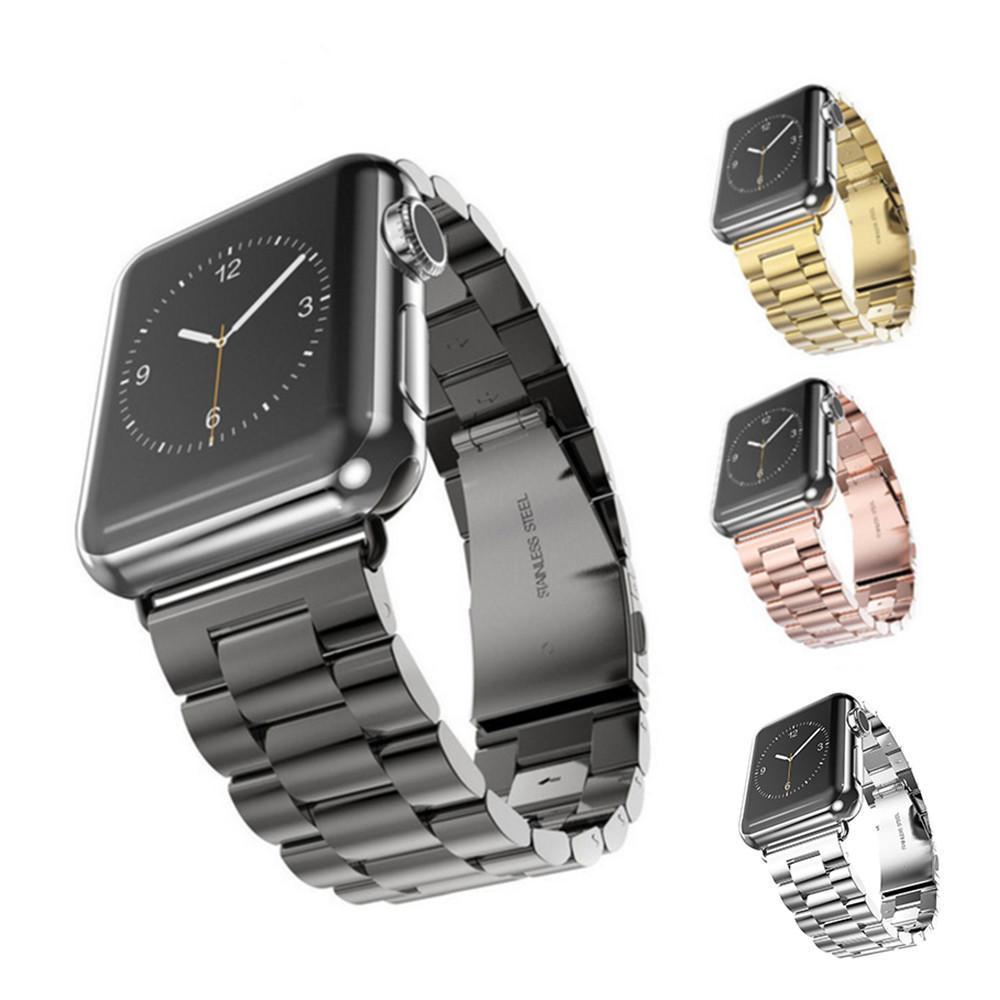 iWatch Apple Ürünü 38mm 40mm 42mm 44mm Serisi için Paslanmaz Çelik Watchband 1 2 3 4 Bilek Bandı Bağlantı Kayışı Yedek Bilezik 10