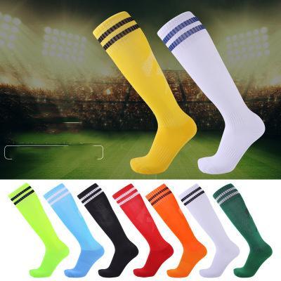 Adulte enfants sur genou football chaussettes épaissie serviette bas confortable antidérapant chaussettes fabricant ventes directes en gros