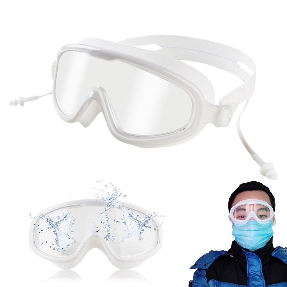 Anti-niebla de polvo a prueba de viento Gafas de seguridad Protección para los ojos Gafas grande para adulto Gafas de natación para el Laboratorio de trabajo de la nadada