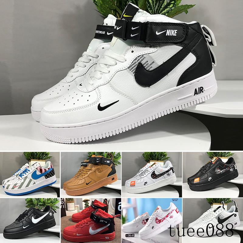 2019 New Arrivals Forces Volt Running Shoes Women Mens Trainers One Sports Skateboard Classic 1 Green White Black Warrior Sneakers F-5CQ