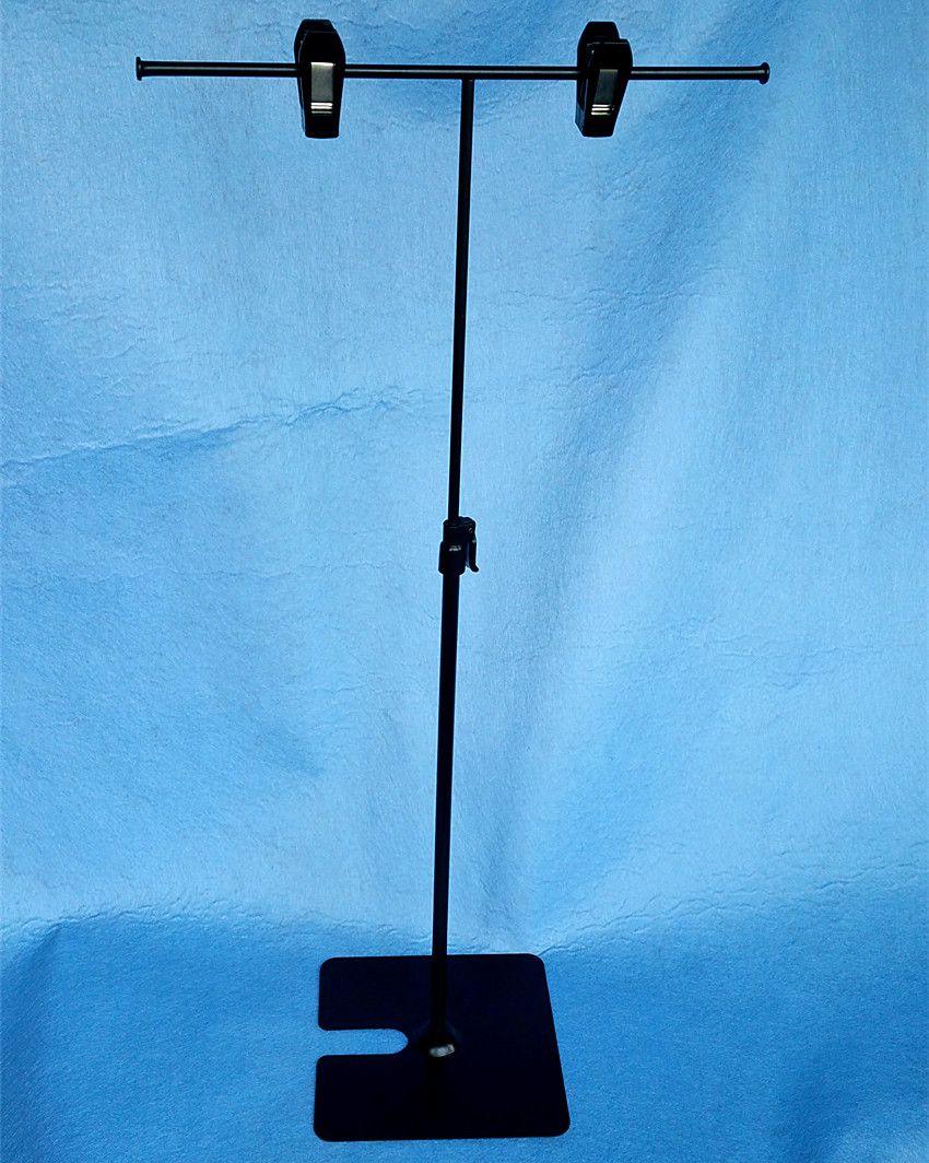 POP Metal Poster Sinal Papel Display Publicidade Stand Ajustável H 30to50cm Em Preto Superfície Catoforese Boa Qualidade 10 Conjuntos