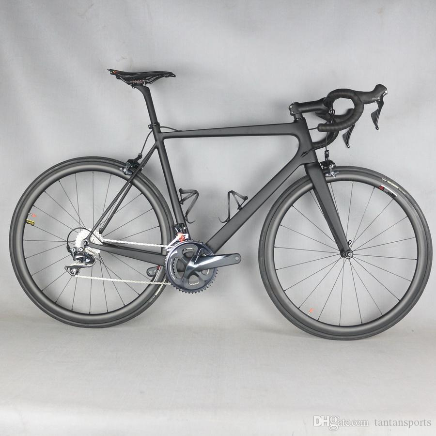 full carbon super light weight carbon road bicycle 2x11 speed, complete carbon bike free EMS shipping