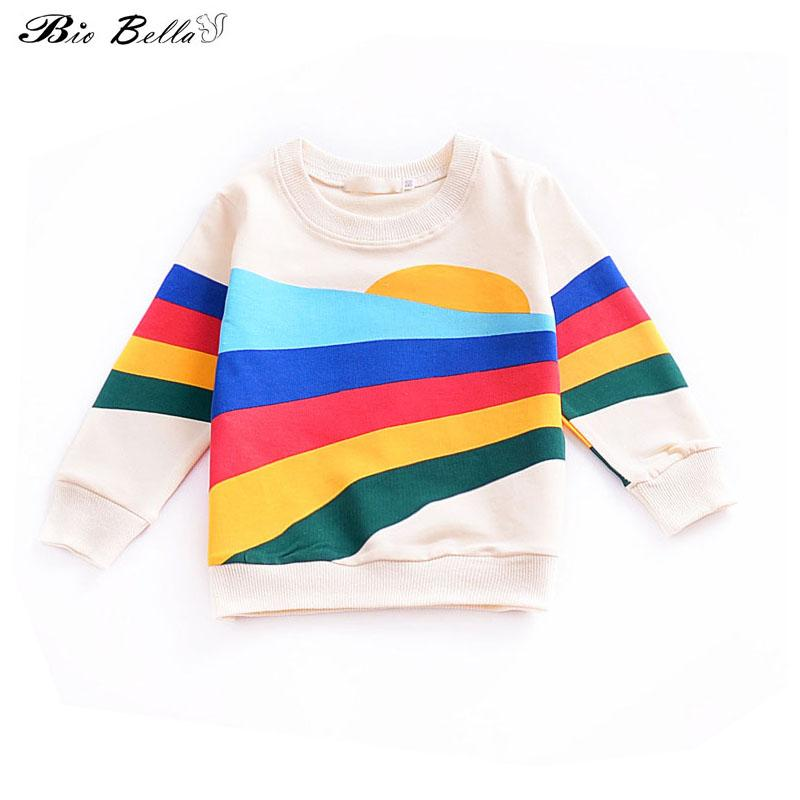 Rainbow Cartoon Baby Kids Autumn Spring Full Sleeve Jacket 100% Cotton Outfits Boy Girl Soft Outerwear New Children Clothing