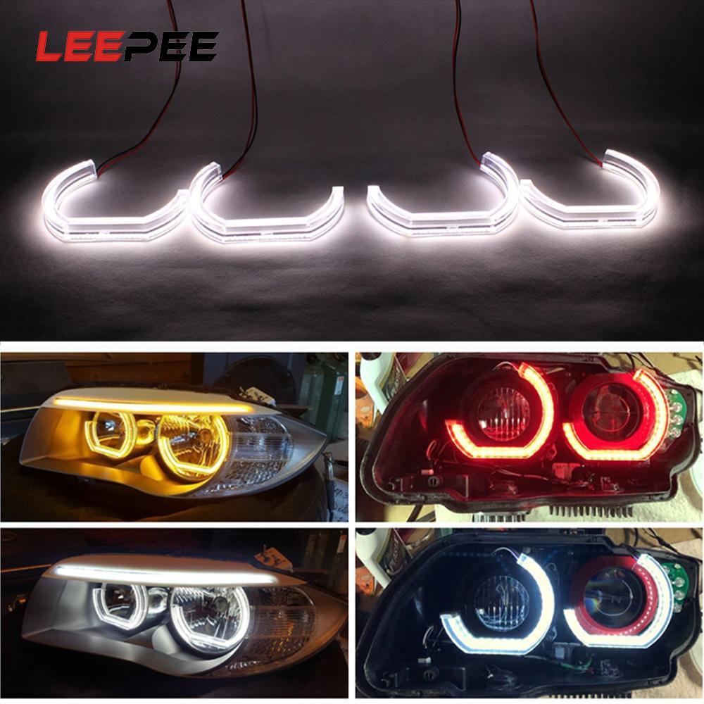 LEEPEE için E90 E92 E93 F30 F35 E60 E53 DRL Marker Işıklar LED Angel Eyes Araba Gündüz Işık Oto Aksesuarları Koşu