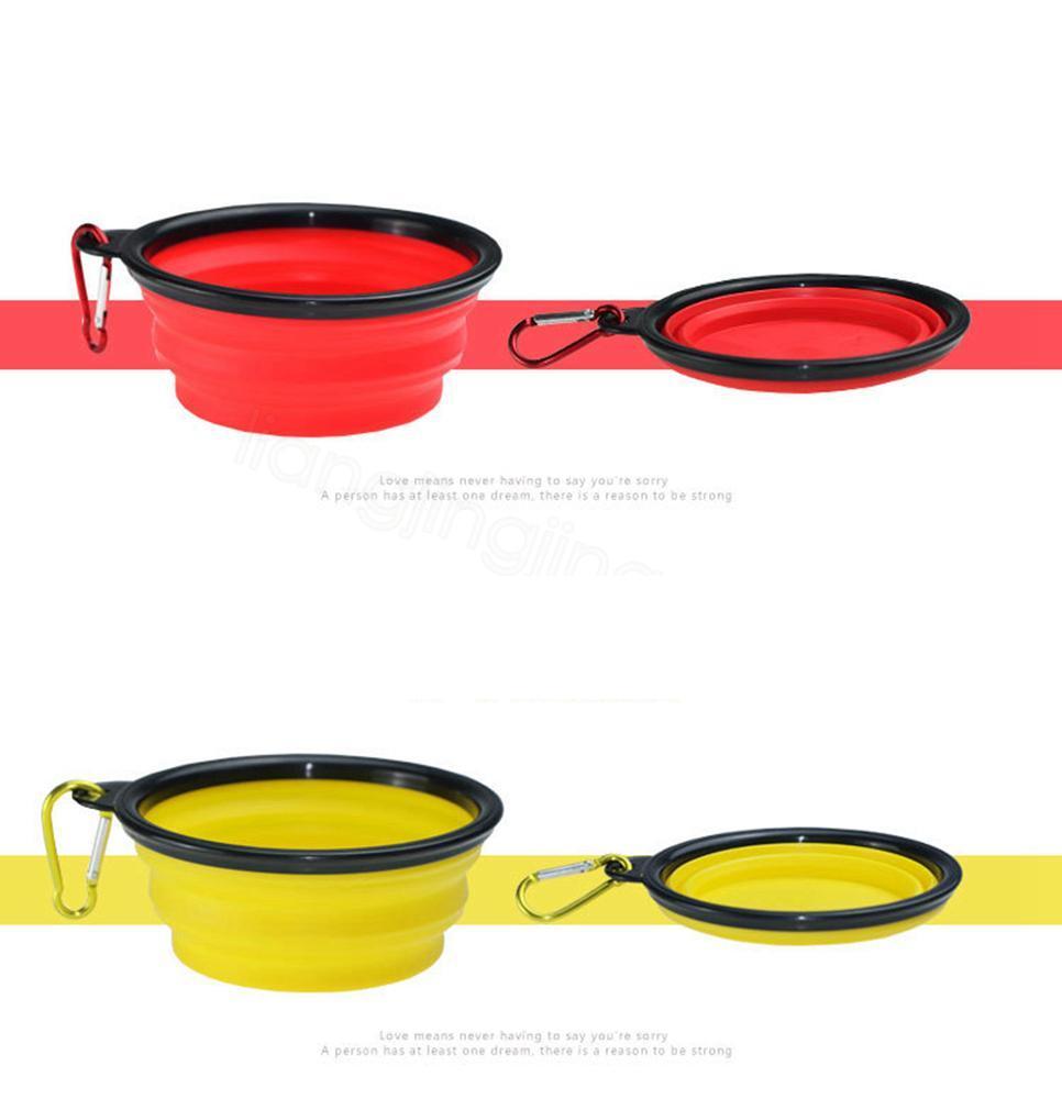 9styles Pliable chien Gamelle pour chat d'alimentation bol Voyage eau vaisselle Feeder silicone conteneur de stockage alimentaire pliable 13 * 5cm FFA3133