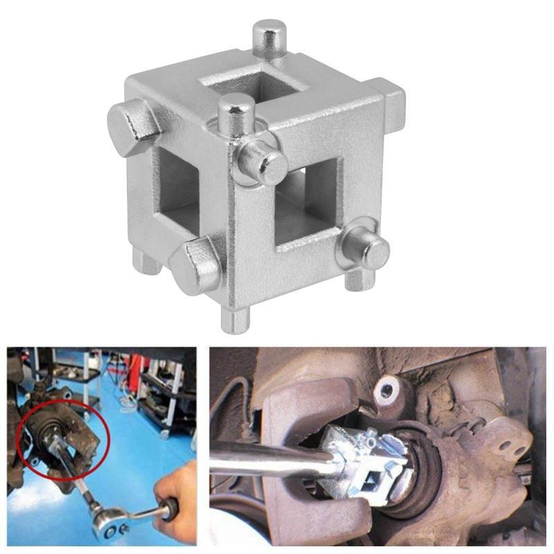 Araç Arka Disk Fren Piston Retraktör Aracı Rüzgar Geri Küp kaliper Adaptör Gümüş Araç Aksesuarları Yeni