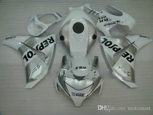 KIT de carénage de moulage par injection pour HONDA CBR1000RR 08 09 CBR 1000RR 2008 2009 carénage CBR 1000 RR blanc argent