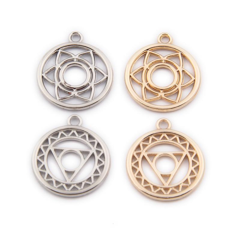 Plaqué or argent fleur magique style Bijoux Charms Accessoires pour Collier bricolage parfait Boucles d'oreilles Bracelet Making