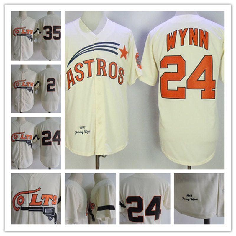 100% authentic 55ce7 8490c 2019 Mens Houston Colt 45s #24 Jimmy Wynn Jerseys Stitched Cream #35 Joe  Morgan #2 Nellie Fox Jersey S 3XL From Xt23518, &Price;   DHgate.Com