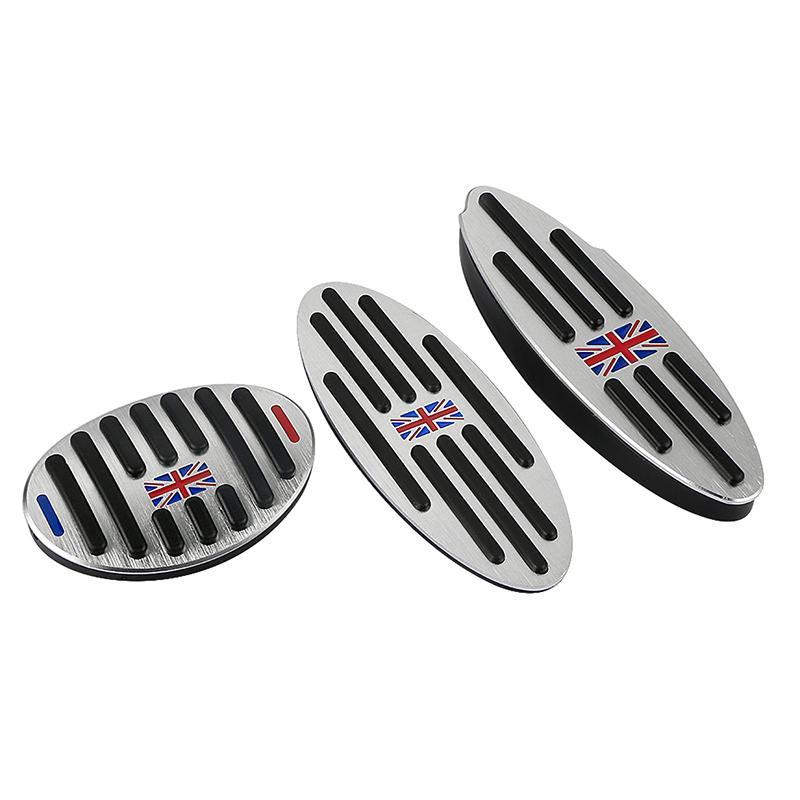 علم المملكة المتحدة شعار البسيطة الألومنيوم AT مسند الغاز الفاصل الفرامل دواسة غطاء للحصول على بي ام دبليو ميني كوبر S JCW R55 R56 R60 R61 F54 F55 F56 F60