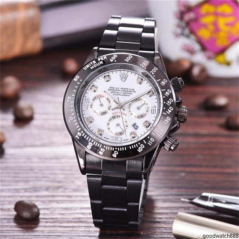 moda mostrador preto Calendário Fecho dobrável moda Quartz relógios relógios de luxo atacado relogio masculino mens relógios de quartzo gowa888