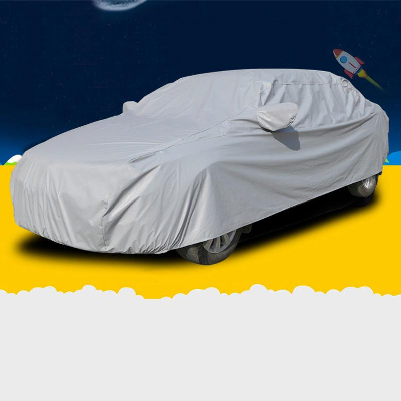 SUNZM Covers auto esterno Tenda da sole copertura macchina piena per auto universale da esterno Hatchback Sedan SUV S / M / L / XL / XXL / XXXL disponibile