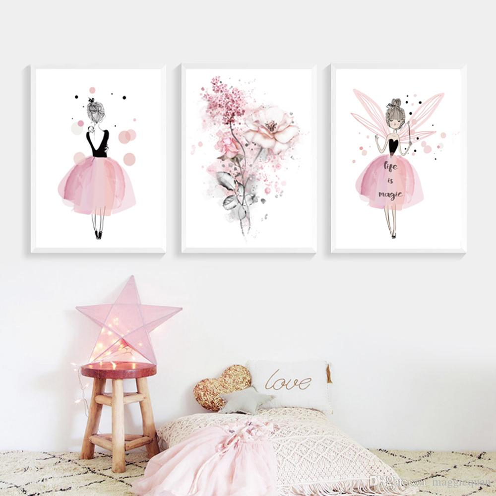 Kids Room Baby Nursery Wall Art Decor Canvas Picture 3 x A3 30x40cm