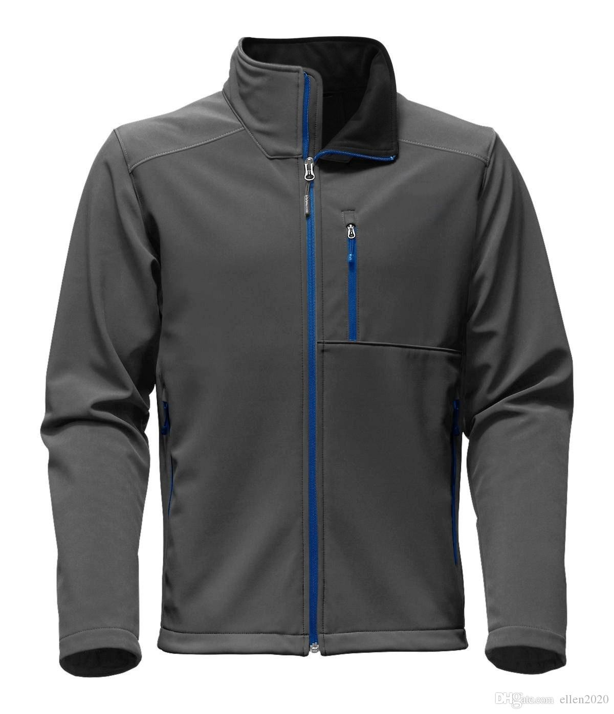 2018 High Quality Mens SoftShell north Jackets Fashion Brand Casual Fleece Ski Warm face Coats Outdoor Windproof Suits