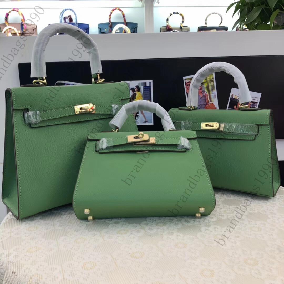 Moda Çanta 2020 Yeni renk Espom Avokado Yeşil 19cm 22cm 25cm WomenTotes Askılı çanta kadınlar Lady Mischpalette hakiki deri Fabrikası