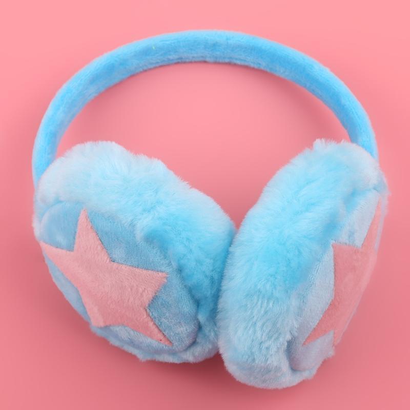 Регулируемые зимние ушные теплые наушники для детей взрослых звезда плюшевый мех ушная муфта ушная крышка милый оголовье подарок для девочки многоцветный