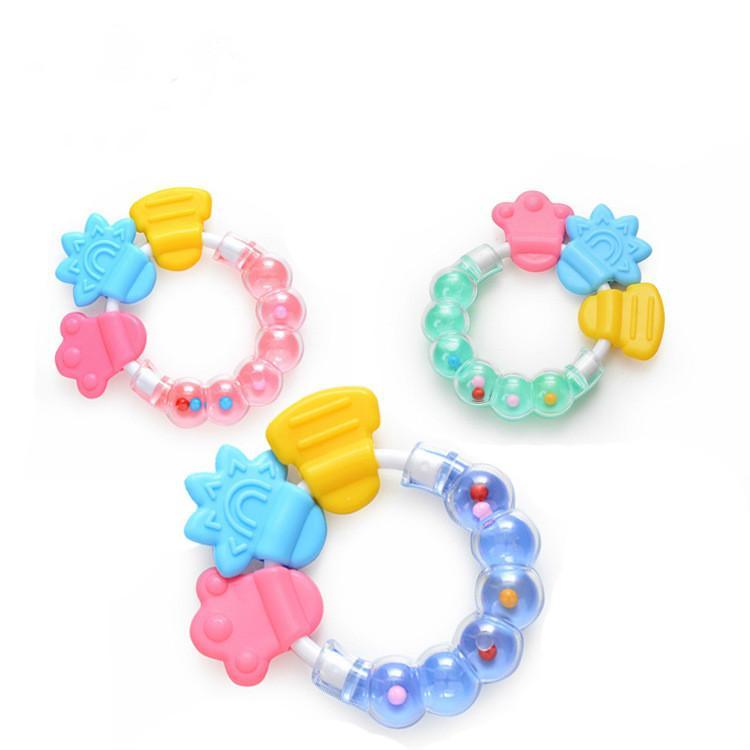 새로운 아기 유아 젖니 서클 반지 아기 젖꼭지 장난감 키즈 귀여운 장난감 베이비 벨 도매