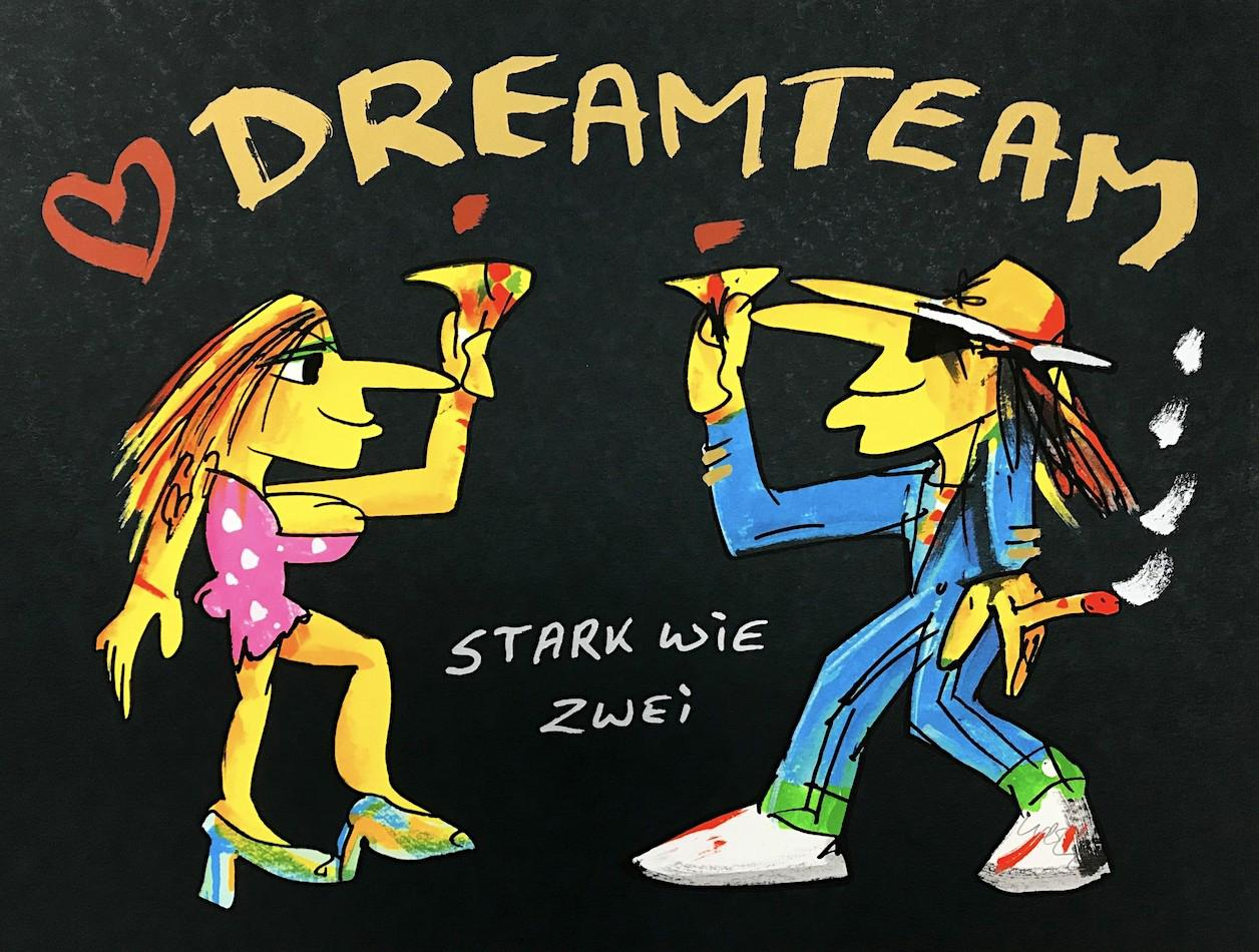 Dreamteam - Stark wie Zwei Home Decor Handpainted &HD Print Oil Painting On Canvas Wall Art Canvas Pictures 200223