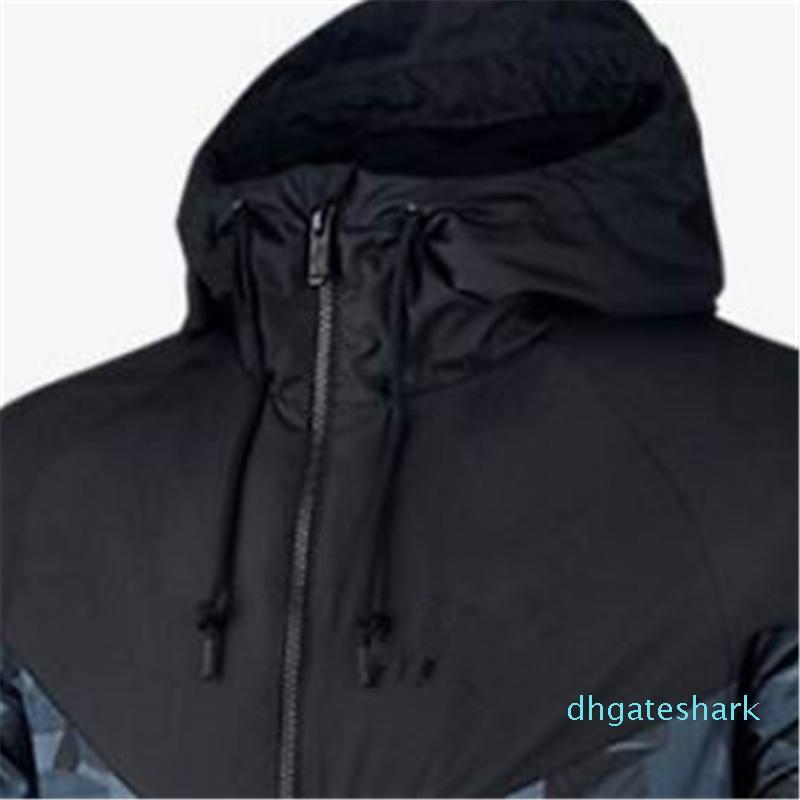 Winter Sweatshirts Hoodie Herren Jacken-Mantel plus Größe Camouflage windundurchlässige lange Hülse, Luxuxmarken Entwerferhoodies-Zipper Kleidung Hot