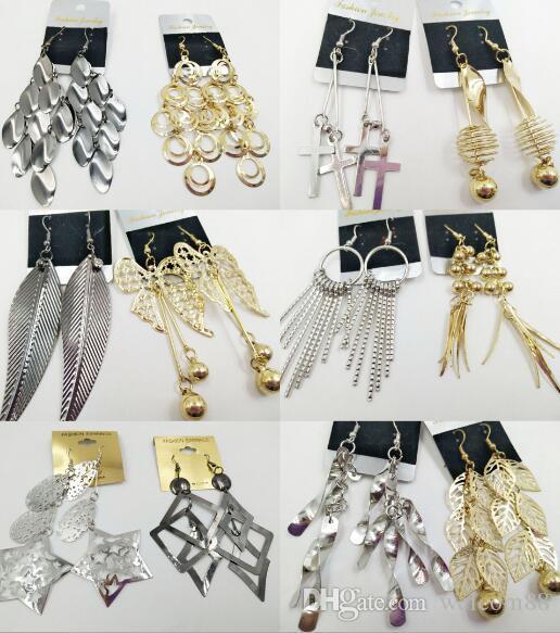 100 пар / лот модные серьги для ювелирных изделий ручной работы серьги подарок цвета смешивания EA015 * бесплатная доставка по DHL
