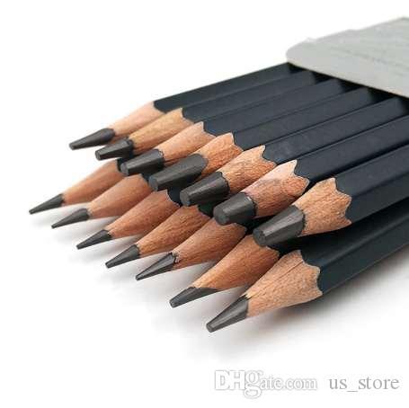 14 teile / satz Professionelle Skizze Zeichnen Bleistift Set HB 2B 6H 4H 2H 3B 4B 5B 6B 10B 12B 1B Malerei Bleistifte Schreibwaren