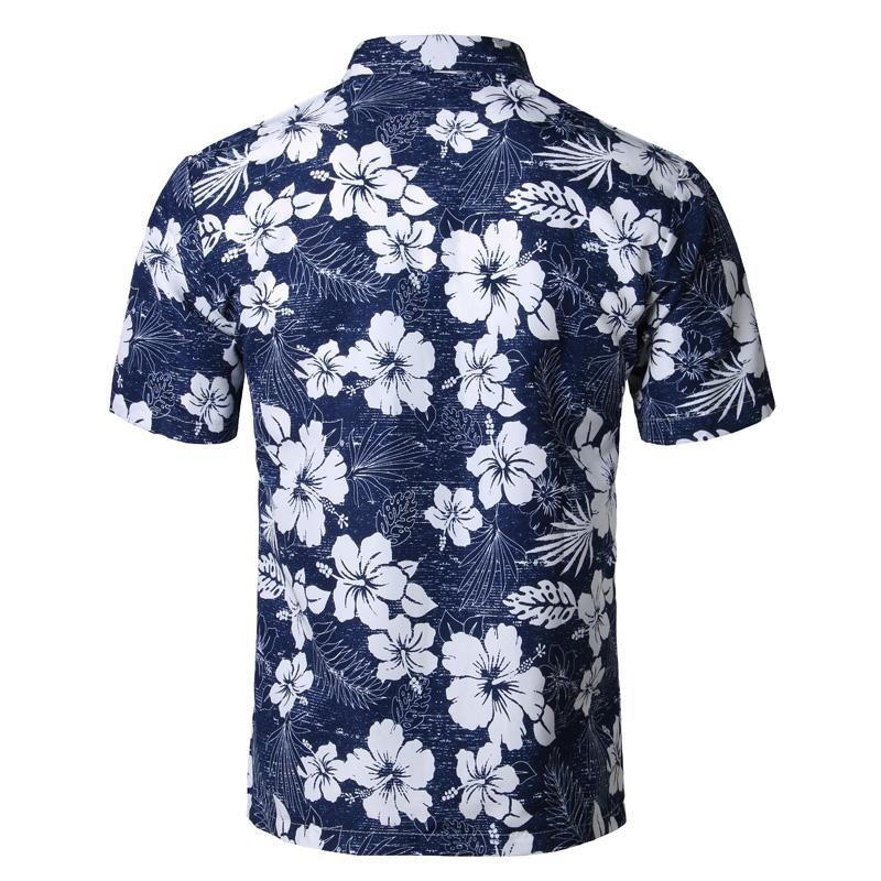 Mens Summer Beach Гавайская Рубашка Марка С Коротким Рукавом Плюс Размер Цветочные Рубашки Мужчины Повседневная Одежда Для Отдыха Отдых Camisas