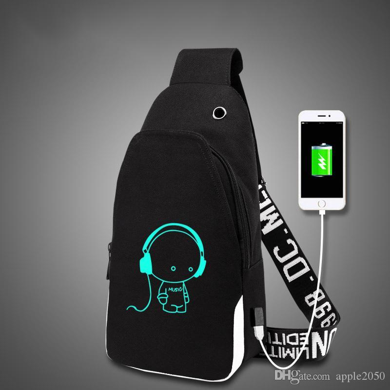 حقيبة متعددة الوظائف USB فرض رسوم على المراهقين الأولاد حقائب بنات مدرسة الطالب السفر مضيئة حقيبة الحاسوب المحمول حزمة الساخنة