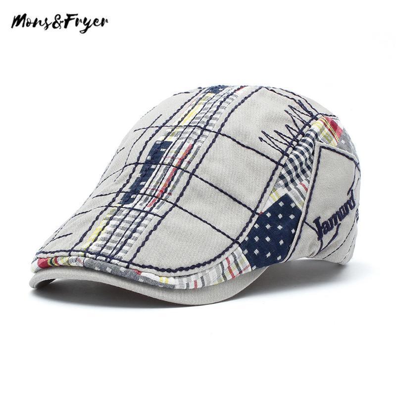 2020 قبعة القطن الكلاسيكية Mens Ivy Hat Duckbill Visor Cabbie Hats Summer Flat Caps Newsboy إسقاط الشحن