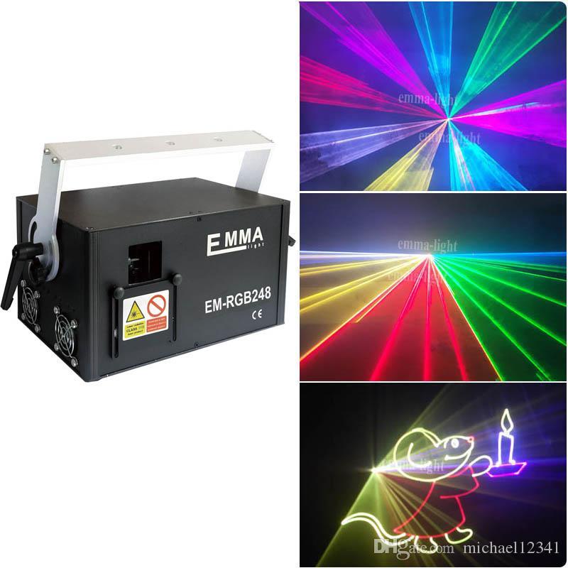 DMX 512 Mini 3000mW 3 Watt RGB Full Color Laser Lighting Scanner DJ Dance Party Show luci del proiettore