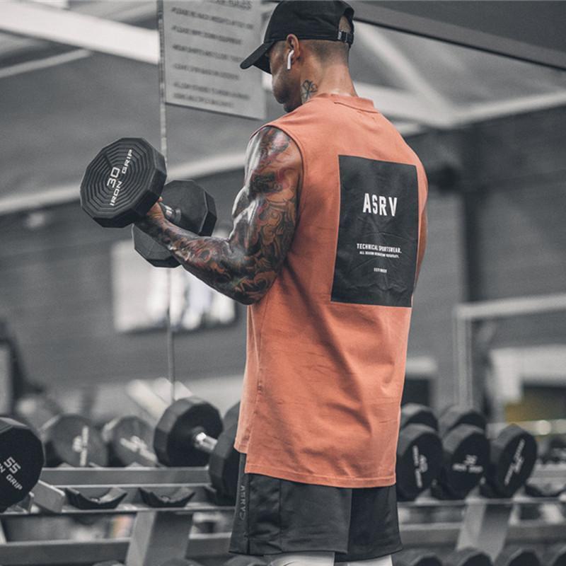 Allenamento senza maniche camicia di marca di modo Palestre Canotta Uomo Abbigliamento Bodybuilding Fitness Mens Sportwear Gilet muscolari Uomini canotte