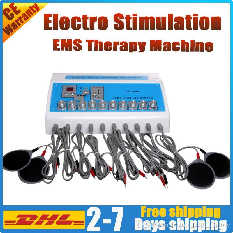 Elektrostimulation Schlankheits Maschinen ems Mikro Stimulator physikalische therpay elektrische Muskelstimulation Schmerzlinderung pads Gewichtsverlust