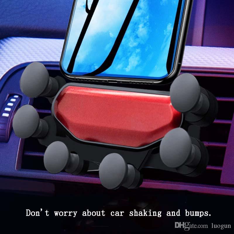 Новый автомобильный держатель для телефона с пневмоприводом с защелкой для мобильного телефона, автомобильная навигация, автоматическая телескопическая скоба