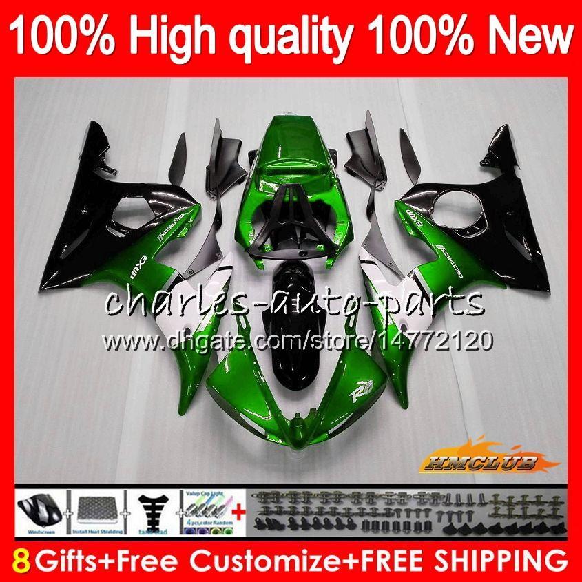 Bodys dla Yamaha YZF R6 S YZF600 YZF-R6S YZFR6S Green Black 06-09 60HC.60 YZF-600 YZF R6S 06 07 08 09 2006 2007 2008 2009 Fairing + 8gifts