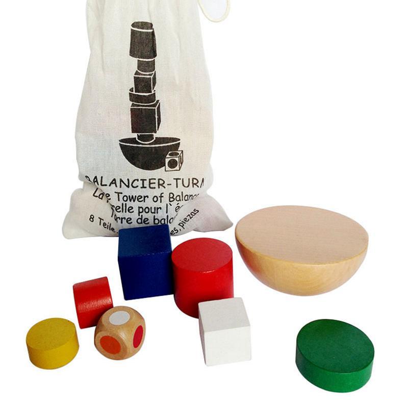 9pcs / set Balance enigma jogos de tabuleiro para crianças Adultos Building Blocks Presente Conselho de Família / Party Game para crianças Jogos de mesa