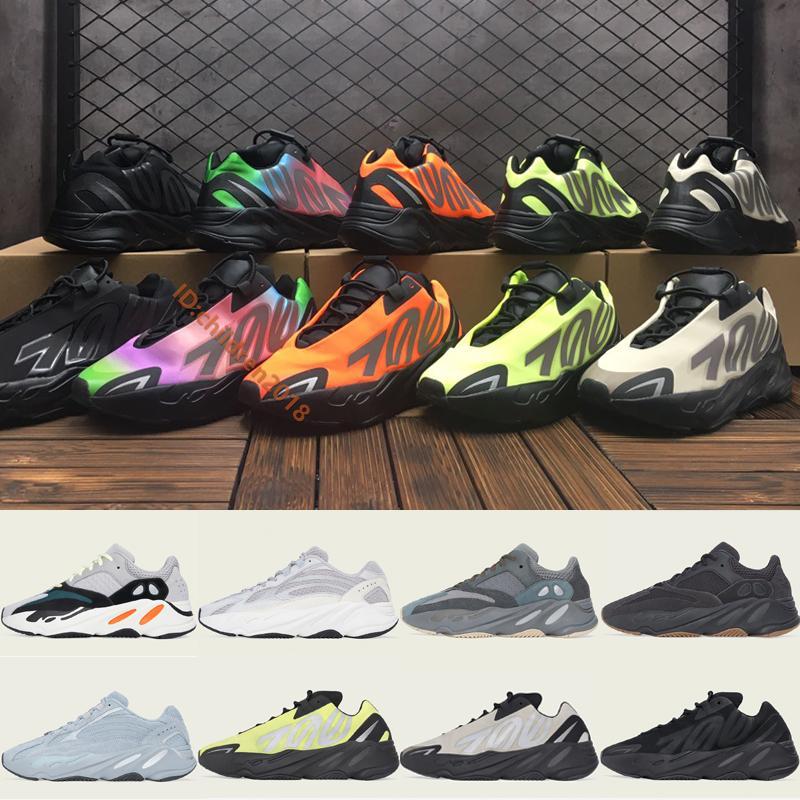 Kanye West 700 MNVN V1 V2 Erkekler Kadınlar Sneakers 2020 Tasarımcı Kemik Üçlü Siyah Fosfor Turuncu Spor Ayakkabı Boyutu 36-45 İçin Ayakkabı Koşu