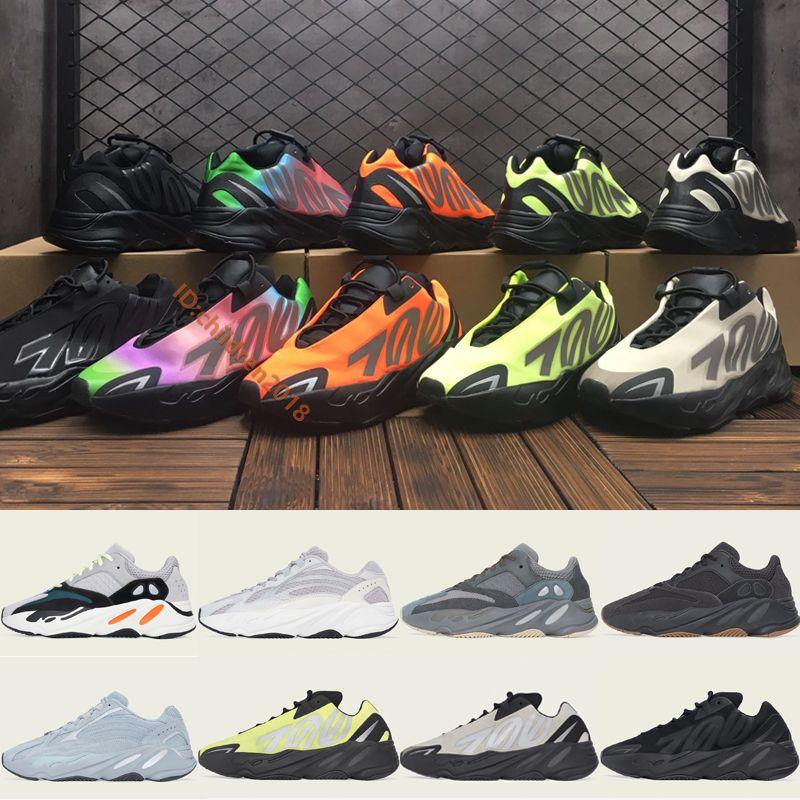 Kanye West 700 MNVN V1 V2 scarpe per donne degli uomini delle scarpe da tennis 2020 scarpe firmate Bone Triple Nero Arancione Phosphor Sport Dimensioni 36-45 corsa