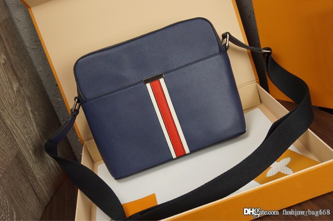 Yeni Moda Lüks Tasarımcı Man Çanta Çapraz vücut Çanta Omuz Gerçek Deri Yüksek Kaliteli Bez Çanta çantalar hakiki deri 28cm