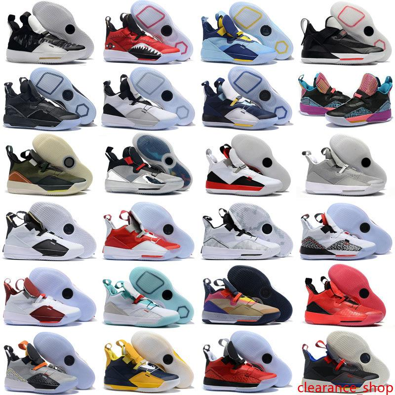 2019 New 33 Mens Outdoor Shoes 33s PE Future Flight Guo Ailun Tech Pack Visible Utility Blackout XXXIII men Sports Sneakers 7-12