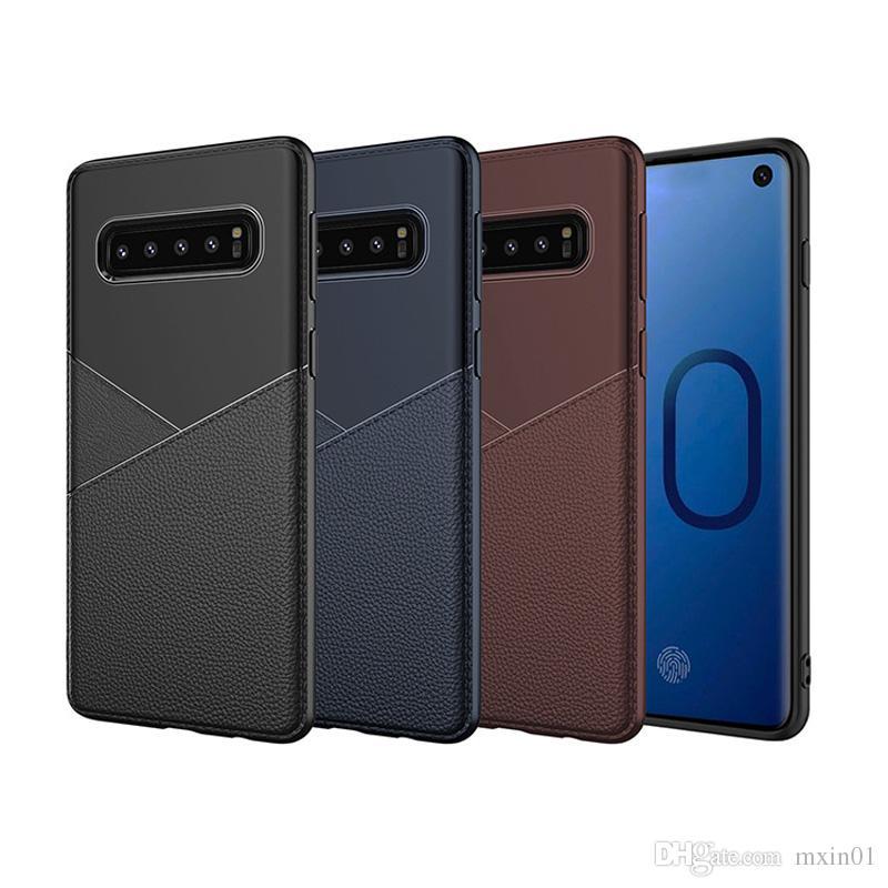 Hybrid Slim Soft TPU Business Leather Back Case For iPhone X XR XS Max 8 7 6 Samsung J8 2018 J4 J6 Plus S10 Lite J2 Core J5 Prime J7 Duo