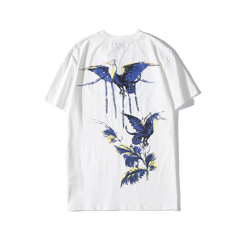 Mens Stylist T Shirt Hip Hop Bird Printing Stylist T Shirt Short Sleeve High Quality Men Women T Shirt Polo Size S-XXL
