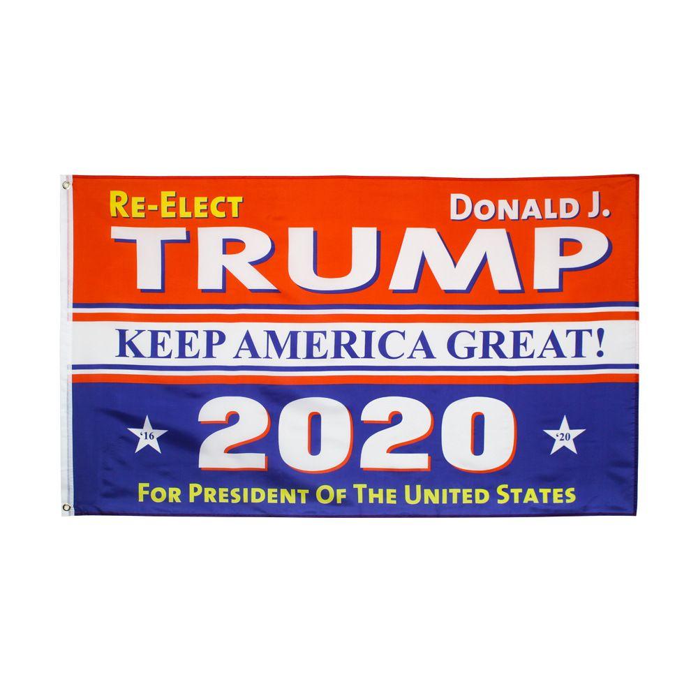 2020 أعلام دونالد ترامب إبقاء أمريكا العظمى 90x150cm الانتخابات العلم CA الولايات المتحدة مخصص مطبوعة حديقة راية العلم LJJA4055