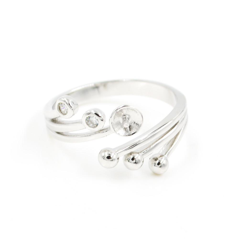 Оптовая продажа S925 стерлингового серебра кольцо монтаж Павлин осыпь кольцо крепления для женщин жемчужные украшения diy бесплатная доставка регулируемый открытие кольцо