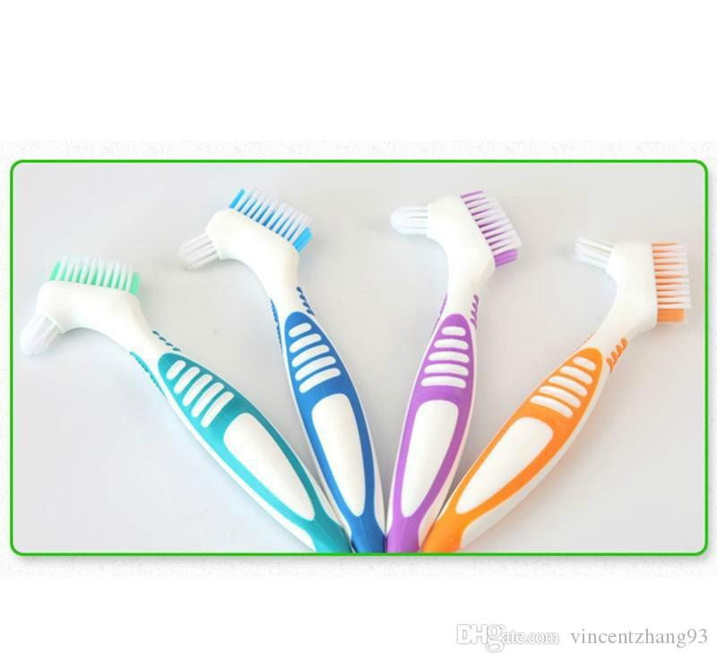 Brosse à dents artificielle Brosse à dents artificielles Brosse à dents pour prothèses à poils souples Brosses à double tête Brosse à dents antibactérienne haute qualité