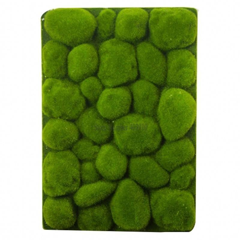 30x50 cm Forma de Piedra Musgo Hierba Estera Interior Verde Césped Artificial Alfombras Falsas Sod Moss Para Home Hotel Pared Balcón Decoración C19041302
