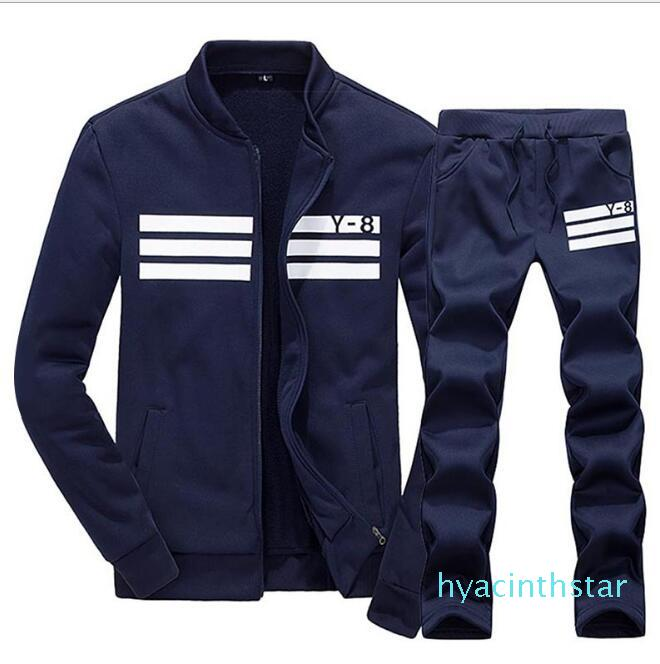 Plus Size M -4xl terno Sportswear Hoodie e camisolas Preto Branco Primavera Outono Jogger Sporting Mens sweatsuits Fatos Set