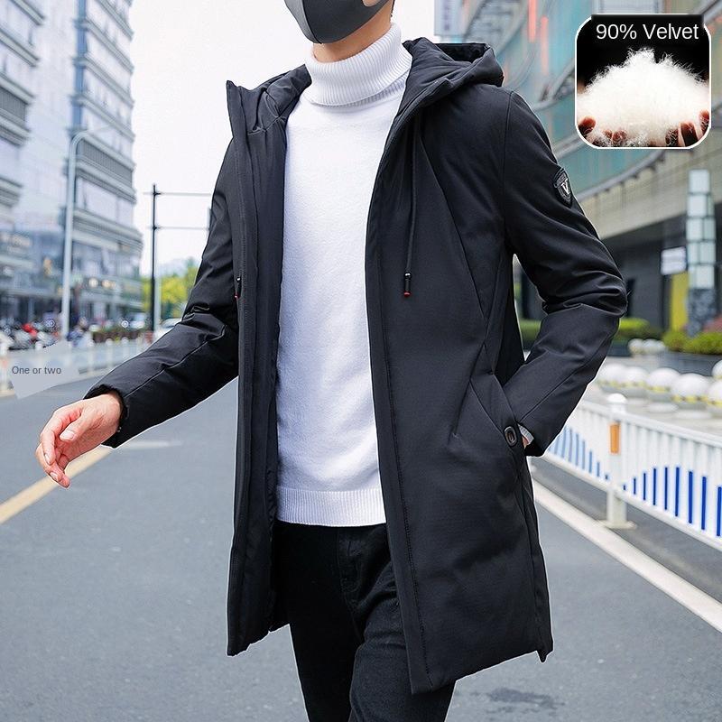 Herren-Designer-Jacke Winter große Daune gut aussehend kanadische mittleren und langen Mantel Mode